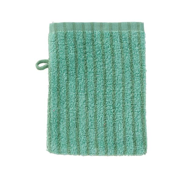 Waschhandschuh mit schicken Streifen, 16x21cm