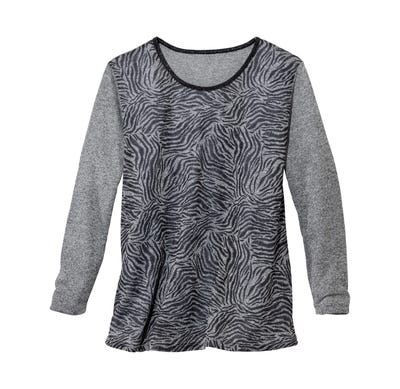 Damen-Shirt mit modischem Zebramuster