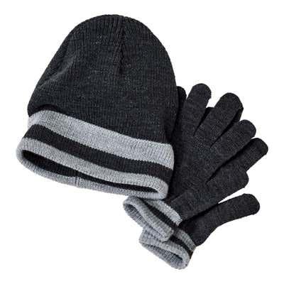 Herren-Mütze und -Handschuhe im Set