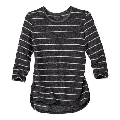 Damen-Shirt mit glitzerndem Lurexband