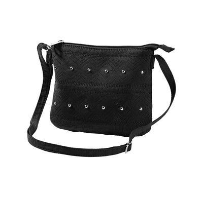 Damen-Handtasche mit Schmucknieten, ca. 23x19cm