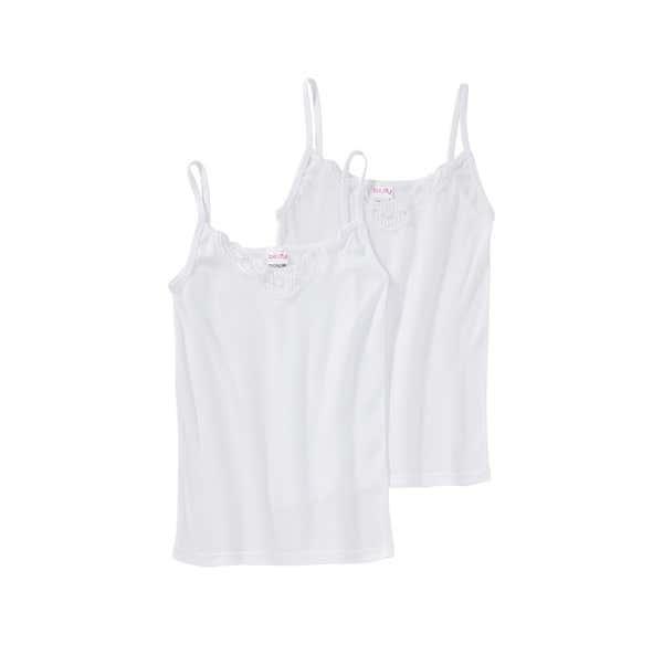 Damen-Hemd mit Spitzeneinsatz, 2er Pack