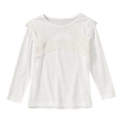 Mädchen-Shirt mit glitzerndem Mesh