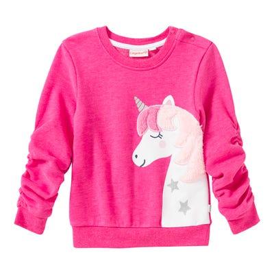 Baby-Mädchen-Sweatshirt mit Einhorn-Aufdruck