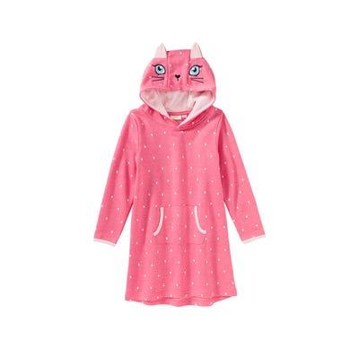 Mädchen-Kapuzenpullover mit Katzengesicht