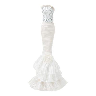 Schmuckhalter mit hübschem Kleid, ca. 11x10x39cm