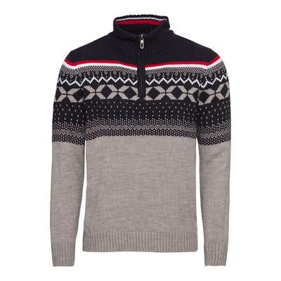 Herren-Pullover mit Norweger-Muster