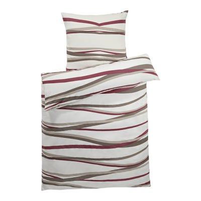 Biber-Bettwäsche mit trendigem Muster