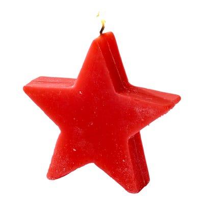 Kerze in hübscher Sternenform, ca. 10x10x3cm