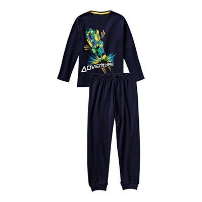 Jungen-Schlafanzug mit Actionhero-Frontaufdruck, 2-teilig