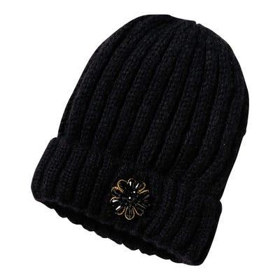 Damen-Mütze mit Strasssteinchen-Applikation