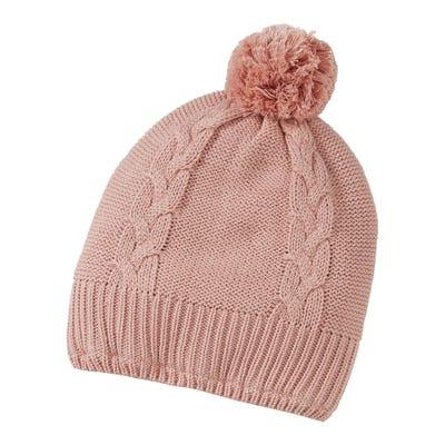 Mädchen-Mütze mit Zopfmuster