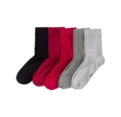 Damen-Socken mit Baumwolle, 5er Pack