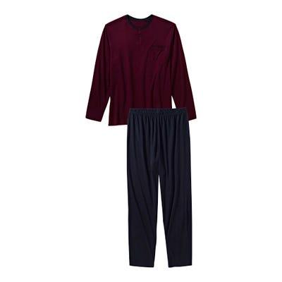 Herren-Schlafanzug mit Brusttasche, 2-teilig