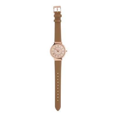 Damen-Armbanduhr mit Kunstleder-Armband