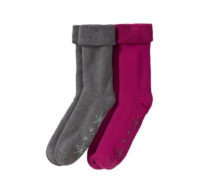 Damen-Socken mit ABS-Noppen, 2er Pack