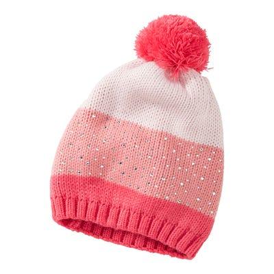 Mädchen-Mütze mit Strasssteinchen
