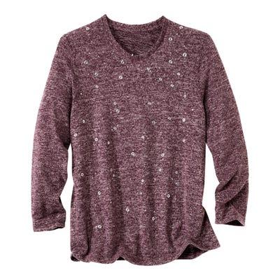 Damen-Shirt mit modischen Verzierungen