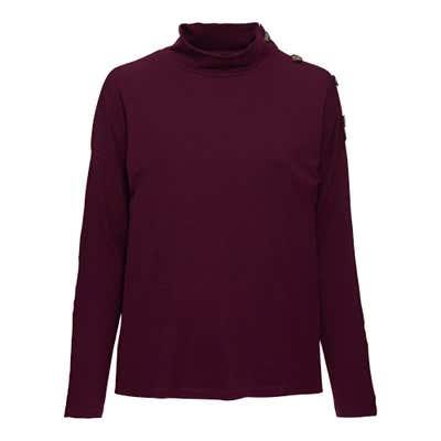 Damen-T-Shirt in trendiger Ripp-Optik