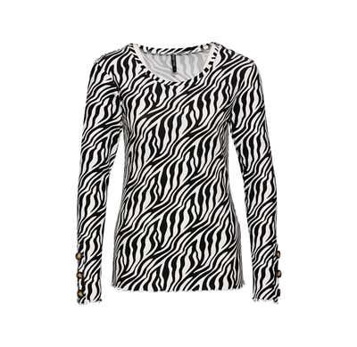 Damen-Shirt mit Zierknöpfen