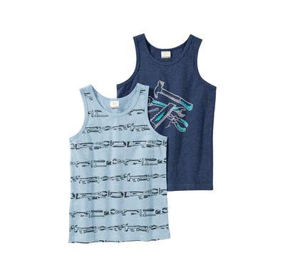 Jungen-Unterhemd mit Werkzeug-Muster, 2er Pack