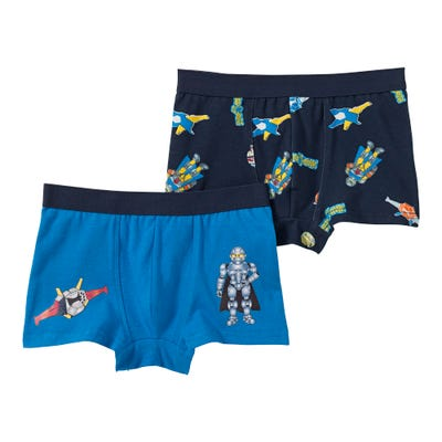 Jungen-Retroshorts mit Superhelden-Motiven, 2er Pack