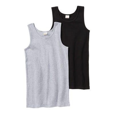 Jungen-Unterhemd aus reiner Buamwolle, 2er Pack