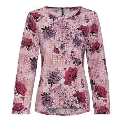 Damen-Shirt mit Krempelärmeln