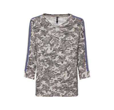 Damen-Sweatshirt mit gestreiftem Zierband