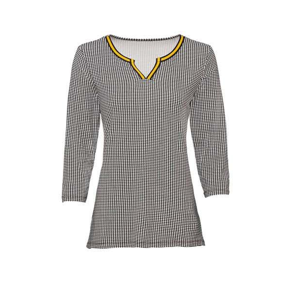 Damen-Shirt mit Kontrast-Effekt