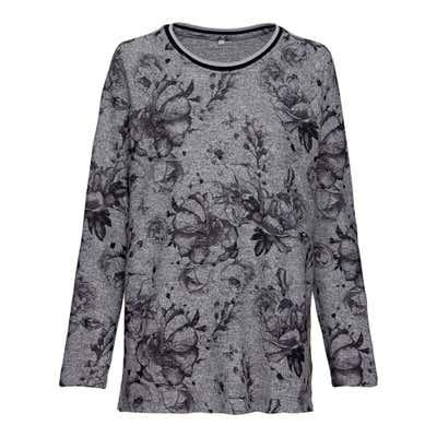 Damen-Sweatshirt mit Blütenmuster