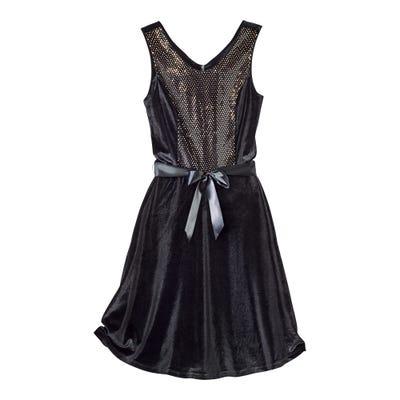 Damen-Samtkleid mit tollen Glitzereffekten