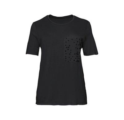 Damen-T-Shirt mit Perlenverzierung, große Größen