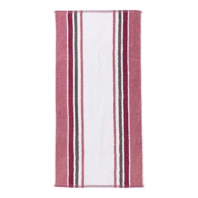 Handtuch mit trendigem Streifendesign, 50x100cm