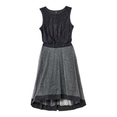 Damen-Kleid mit elastischem Taillenband