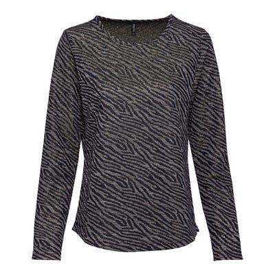 Damen-Sweatshirt mit Zebra-Muster