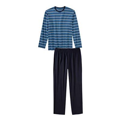 Herren-Schlafanzug mit trendigen Streifen, 2-teilig