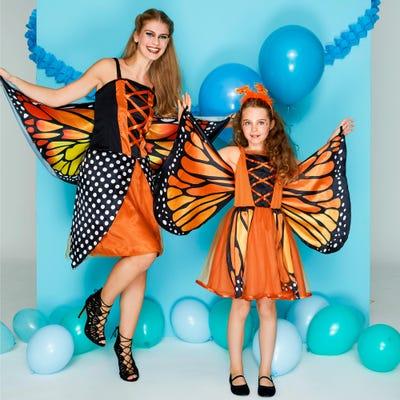 Kinder-Schmetterlings oder Pfau-Kostüm mit traumhaften Flügeln
