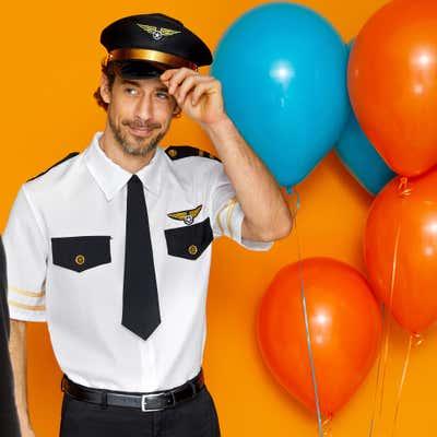 Pilot-Kostüm mit Mütze für Erwachsene