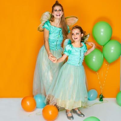 Glitzerfee-Kostüm mit wunderschönen Flügeln für Erwachsene