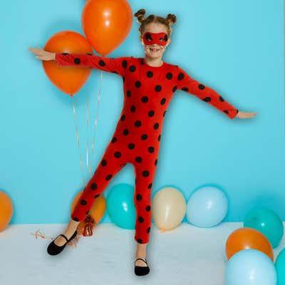 Kinder-Marienkäfer-Kostüm mit toller Maske