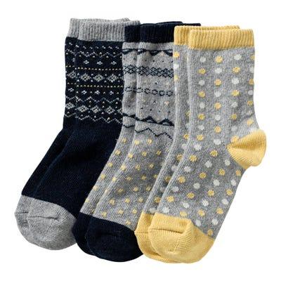 Damen-Socken mit Wolle, 3er Pack