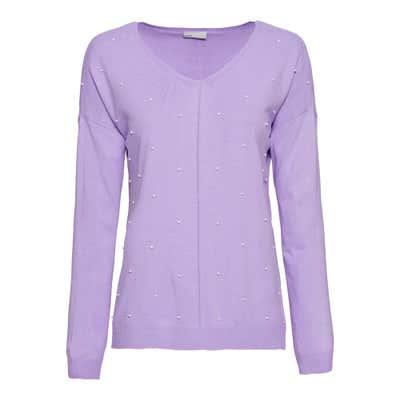 Damen-Pullover mit Schmuckperlen