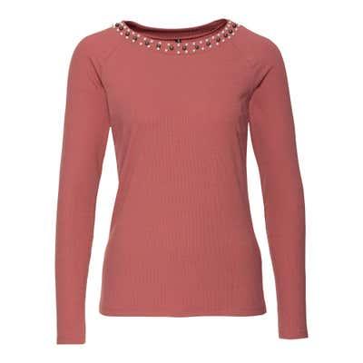 Damen-Shirt mit Schmuckperlen