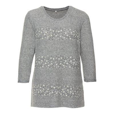 Damen-Sweatshirt mit Schmuckstreifen