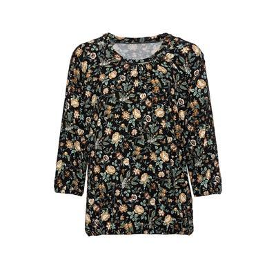 Damen-Shirt mit Raffungen am Ausschnitt