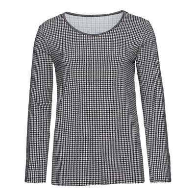 Damen-Shirt mit glitzerndem Zierband