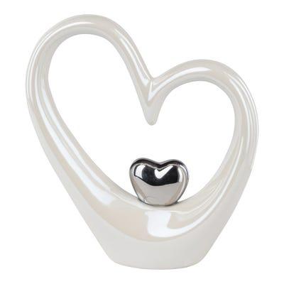 Deko-Herz aus hochwertiger Keramik, ca. 13x4x15cm