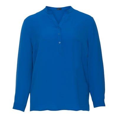 Damen-Bluse mit Knopfleiste, große Größen