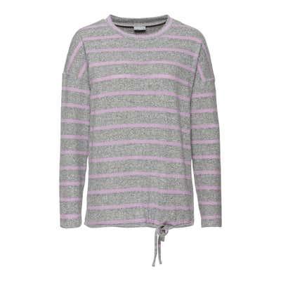 Damen-Sweatshirt mit Bindebändern am Saum